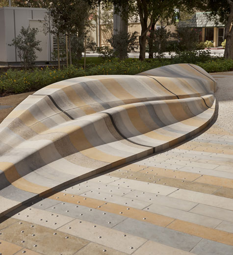 Innovative material and design are key Kim hallmarks, as here at the Alexander Art Plaza. Courtesy Mikyoung Kim Design