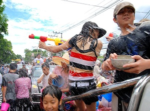 Koh Samui has a more traditional, family inclusive Songkran than some other places like Bangkok. Photo courtesy Samuidotcom.