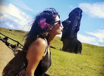 Social media images have led to accusations of disrespect for cultural and conservation sites like those on Easter Island. Photo Oliver KMIA