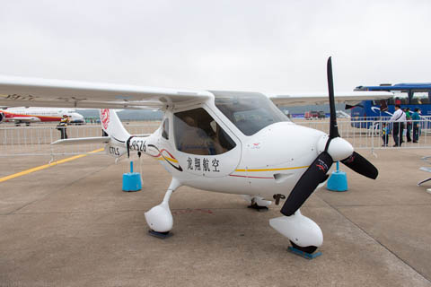 The  Liaoning Ruixiang RX1E can fly two people for two hours using battery power. Courtesy  Liaoning Ruixiang.