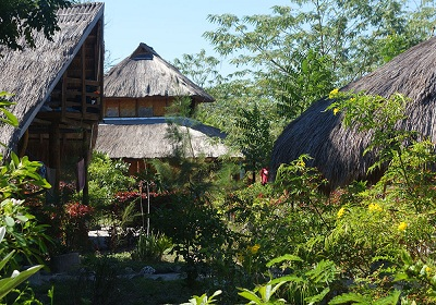 All the cabins on Atauro in Timor-Leste use local materials in their construction . . .