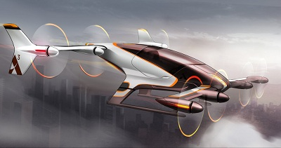 The Vahana will offer VTOL transport for one passenger - and is already flying. Courtesy Airbus.