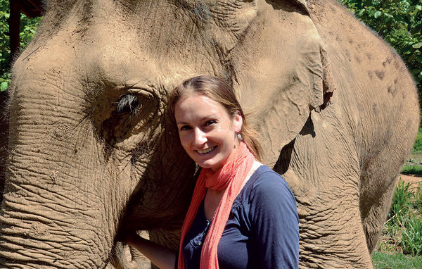 Katherine Connor became an accidental elephant crusader on a visit to Thailand. Courtesy CS Monitor.