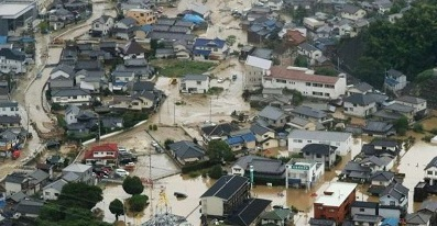 Recent floods in Japan have caused countrywide destruction and havoc. Courtesy Phys.org
