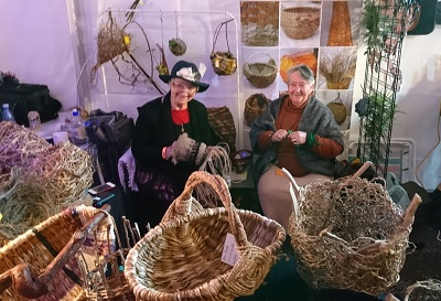 The basket weavers ply their thousand-year old skills. Courtesy J.Torr