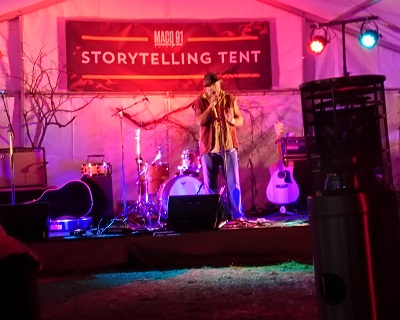The storytelling tent was an absolute hit with everybody. Courtesy J.Torr