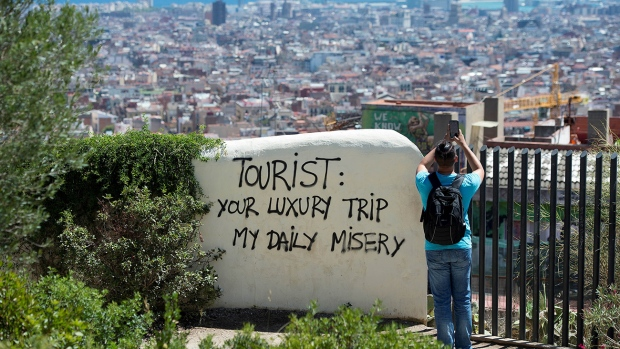 The 2018 UNWTO Overtourism report lists 11 strategies and 68 measures to help stakeholders curb the ill-effects of over-crowding in popular urban destinations. Image: Courtesy CTV News.