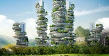 Shenzhen has ambitious plans for its Green Buildings projects, like this Vertical Farm. Courtesy Vincent Callebaut.