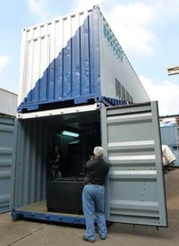 A stacked up 40ft container holds the answer to energy from waste with this STX MultiFEED.