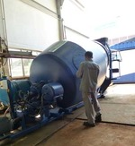 """A """"mulcher"""" reduces waste into slurry before being fed into the molten metal STX MultiFEED gasifier."""