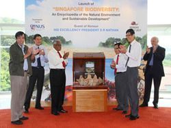The official launch of the Encyclopedia with Guest of Honour President S. R. Nathan.