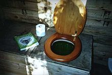 Toilet that composts waste directly.