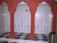 Taj Mahal's flushless urinals.