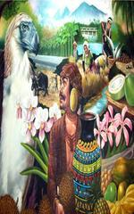 A painting of the endangered Philippine Eagle.