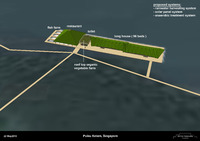 An initial plan for eco centre on Pulau Ketam.
