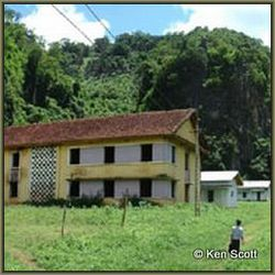 The Viengxay hospital built outside the cave complex