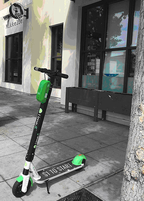 Europe, including Athens, has taken up electric scooters with gusto. Courtesy Wikipedia.