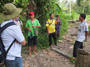 Discussion with the villagers of Kobon