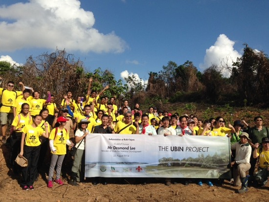 The first agents of change in Tanjong Tajam reforestation, officiated by MOS Desmond Lee