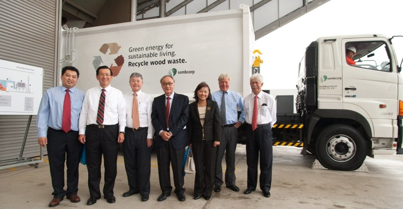 Sembcorp's board of directors at the Sembcorp Woodchip Boiler Plant Opening Ceremony