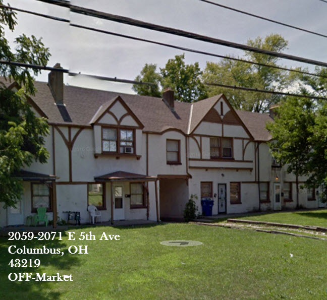 5-Unit Property now $135K - 2059 - 2071 E 5th Ave. Columbus, OH 43219• CAP Rate > 10.87%• 100% Occupied• Rent Increase Upside...
