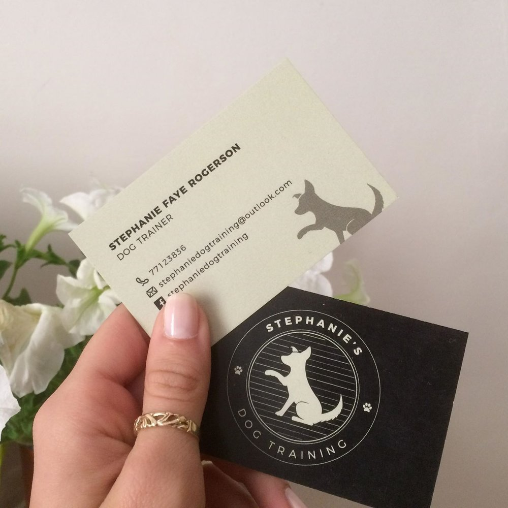 stephanie's Dog Training business cards