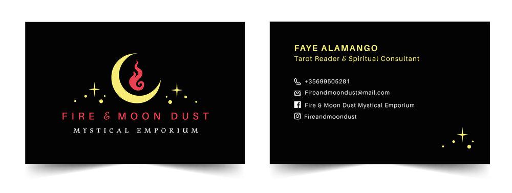 Fire & Moon Dust Business card