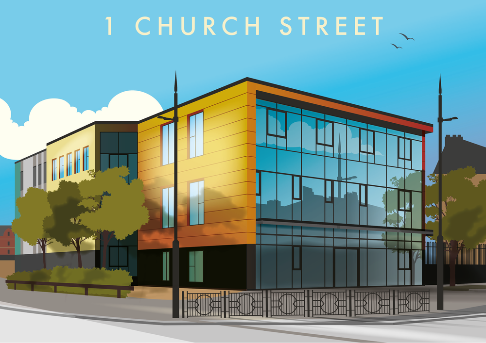 The Northern School of Art - 1 Church Street (Hartlepool) Illustration