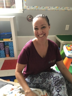 Michelle Provencher  is an exciting and energetic addition to our team. She spends her days with our younger toddlers and is also our music program. Michelle is a master of finger plays and puppets and really keeps her class on their toes.