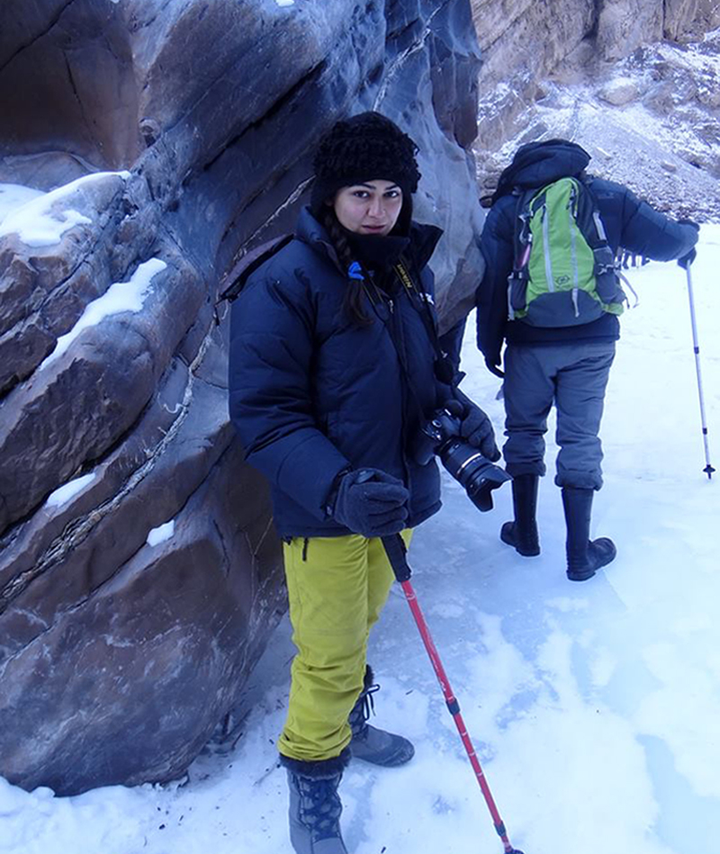 Nitya takes small groups for treks