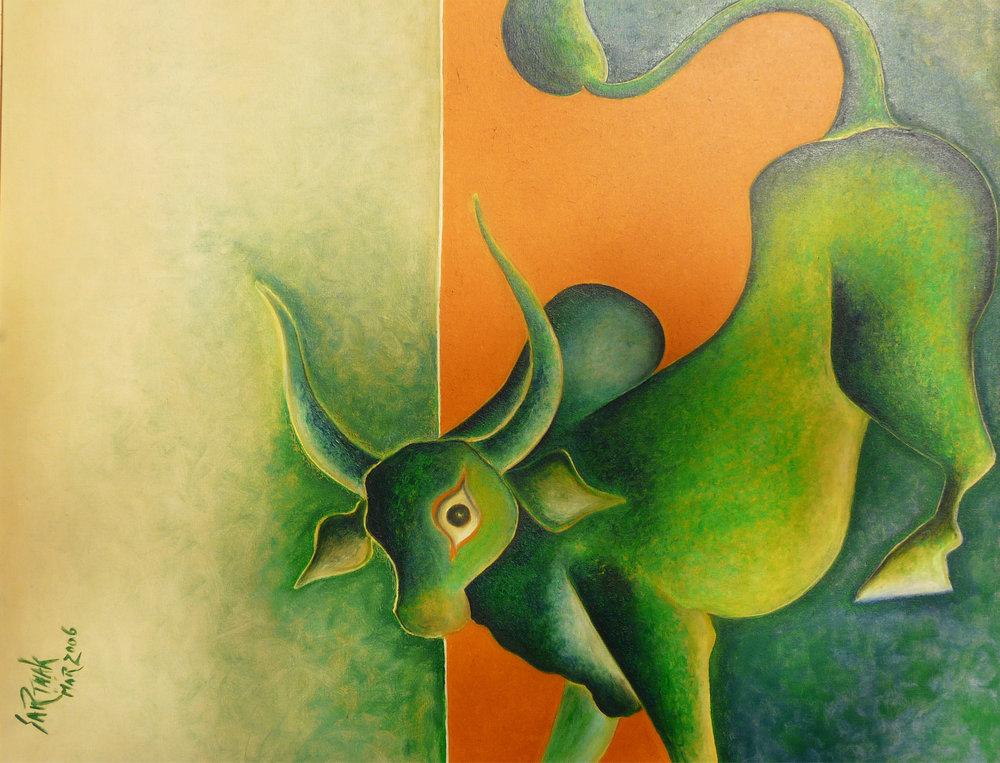 Nandi - Oil on Canvas