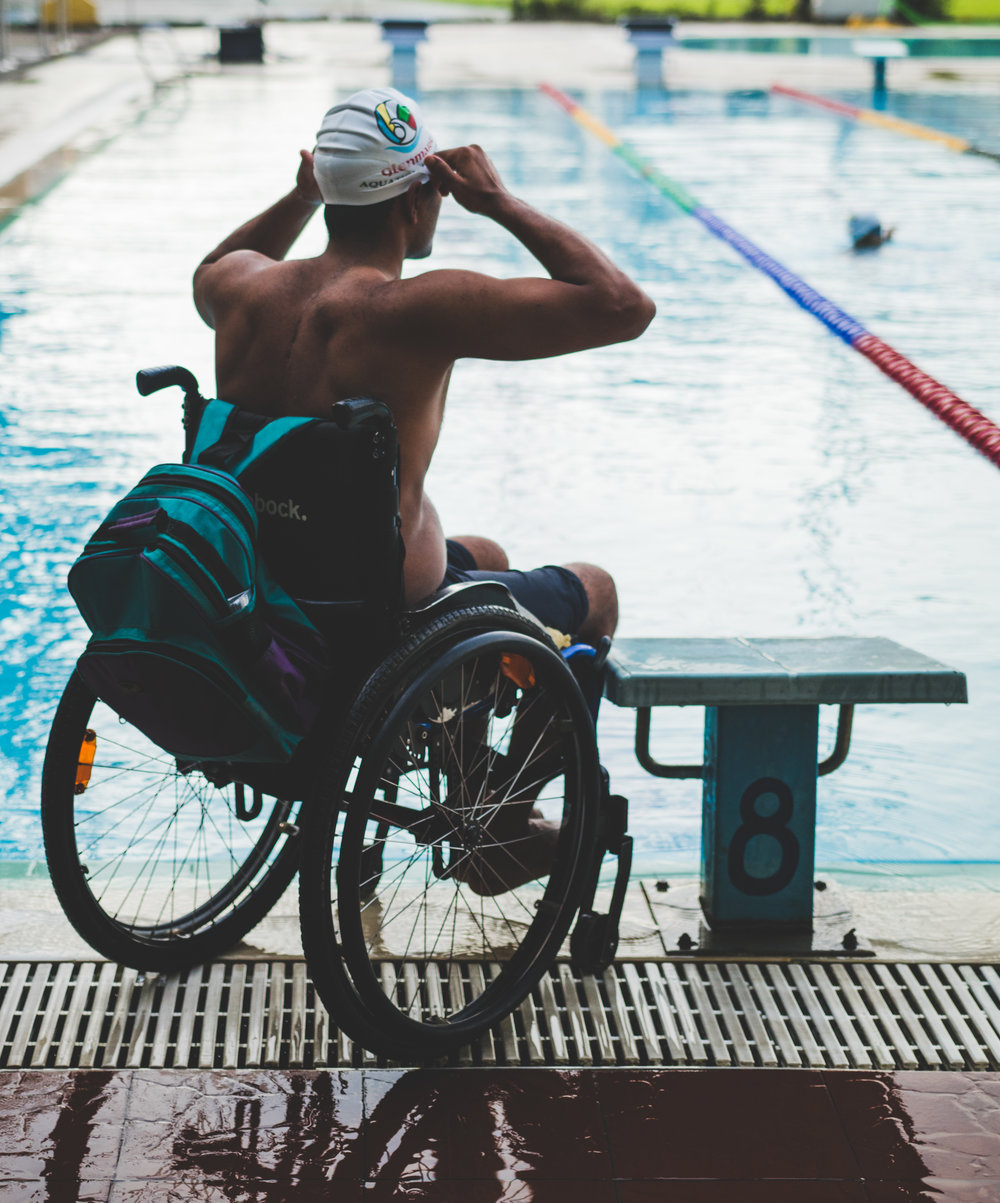 Mohammad Shams Aalam paraplegic swimmer