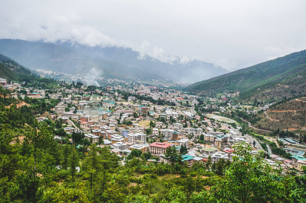 A View of Thimphu City from Buddha Point