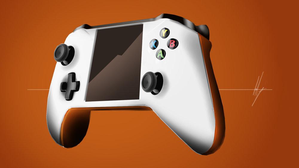 Microsoft Xbox controller redesign presentatie schets