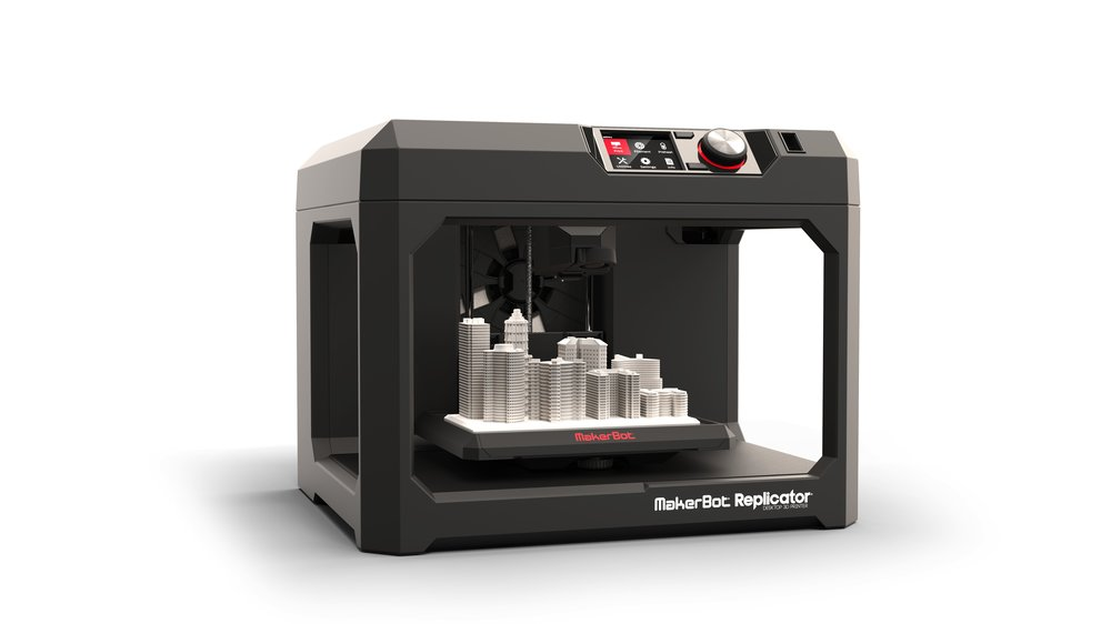 Makerbot Replicator + and Makerbot z18 (FDM printers)