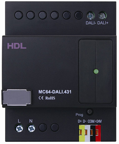 If your DALI mosule looks like this (L and N terminals at base of unit) then you are ready for the latest firmware on this page (please read complete description).