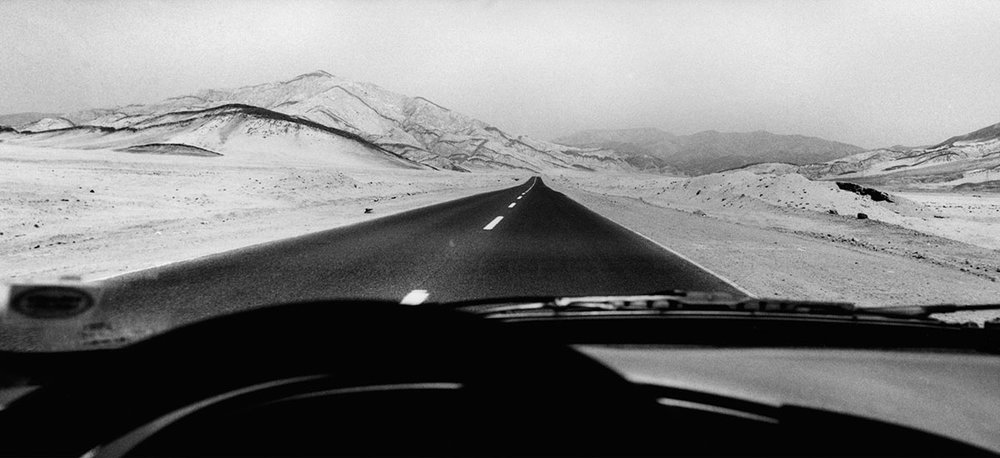 North of Chile. Near Copiapo. February, 1999.   The «Panamerican» highway  Silver Print, 40 x 120 cm - 1999