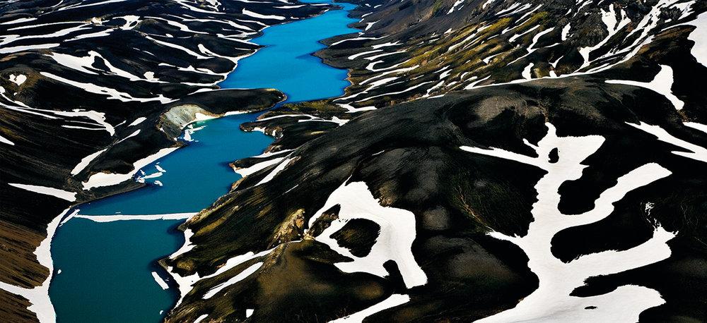 Lake Holmsarlon from Myrdalsjökull glacier,  Iceland Ink jet print on Baryté paper 310gr, 100 x 150 cm -2008