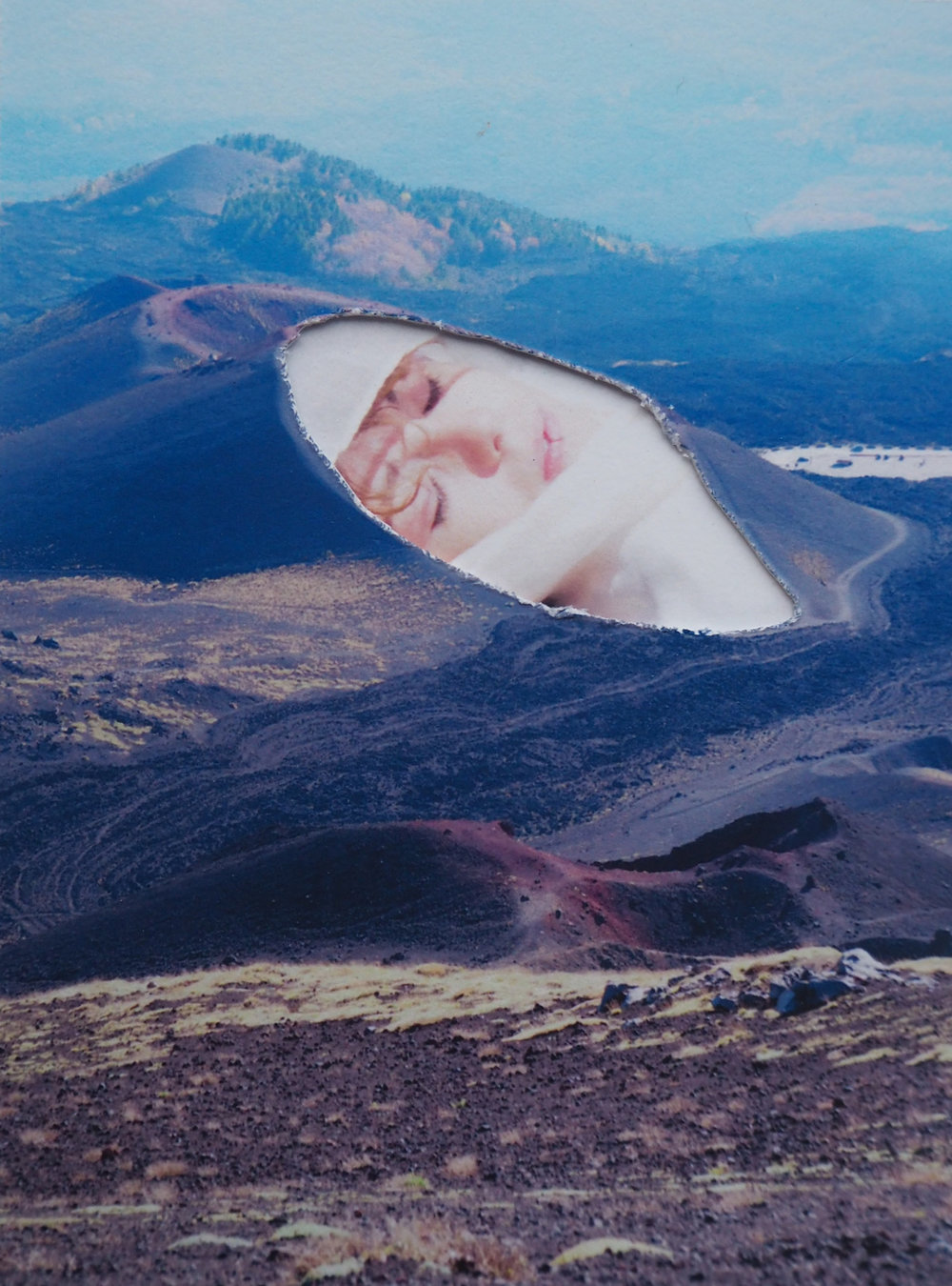 Léa Cuadrado,  Agata alla Fornace , Catania, photo-collage, 11 x 8,5 cm.