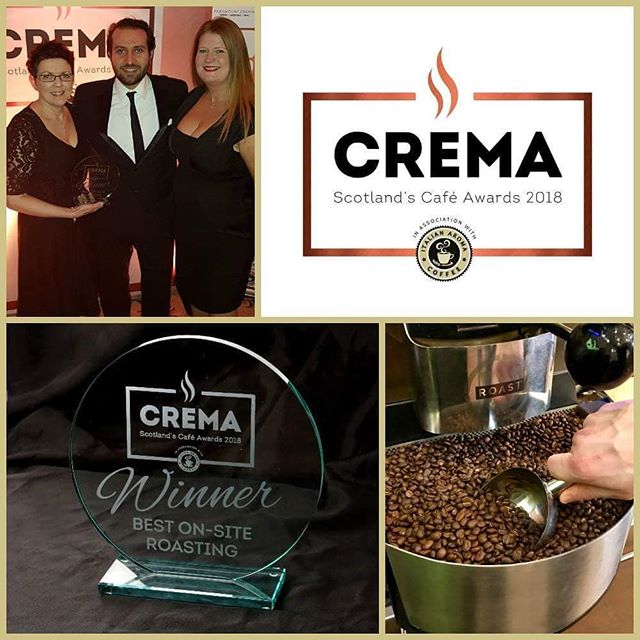 We're delighted to have won Best Cafe with On-Site Roasting last night at the Crema 2018 awards! Thanks to everyone who voted us a winner. Our lovely Tamsin and Amanda were there to collect the award, don't they look good 😉#Crema2018 #CremaAwards2018 #Dnisi #OnsiteRoasting #FreshlyRoasted