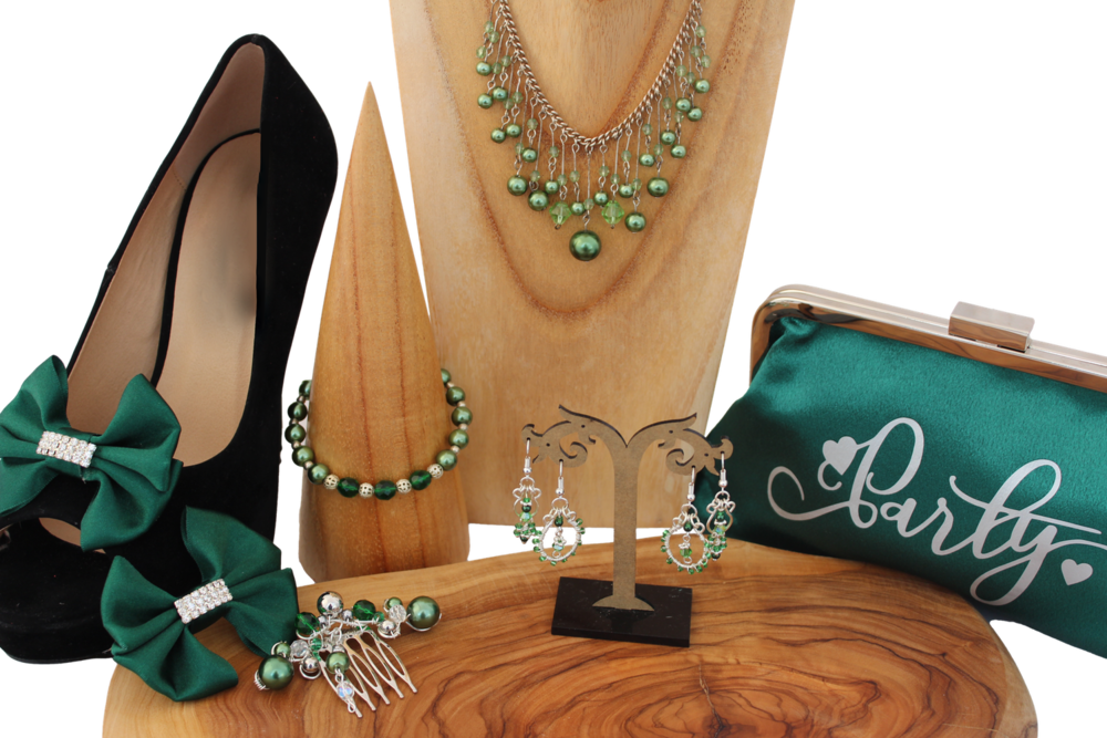 green and silver party accessories.png