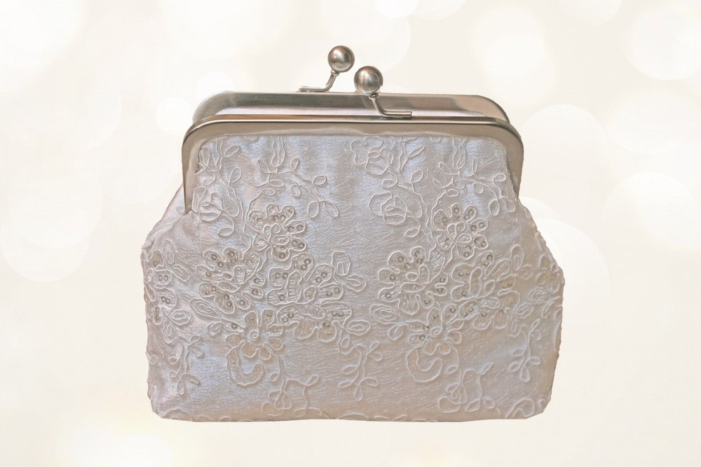 vintage style bridal bag covered with sequinned lace.jpg
