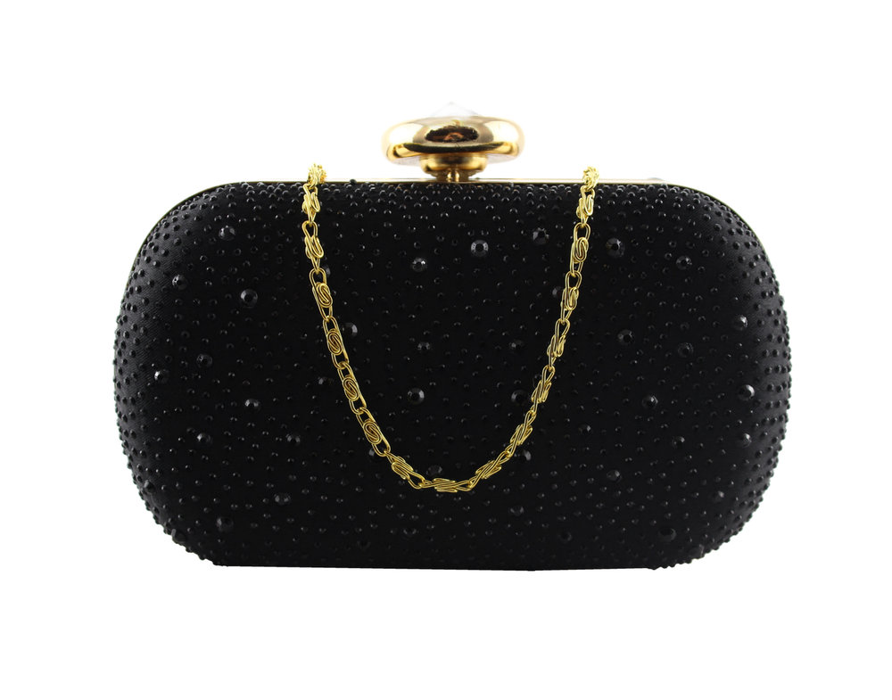 Black sparkle clamshell clutch bag.jpg