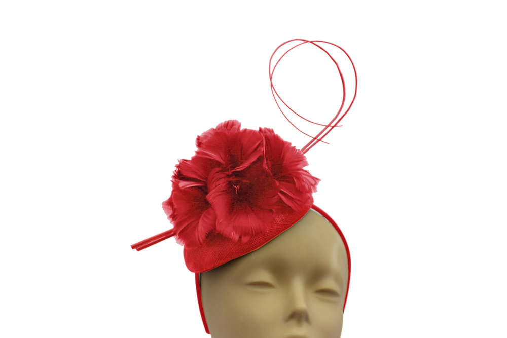 red pill box and feather fascinator.jpg
