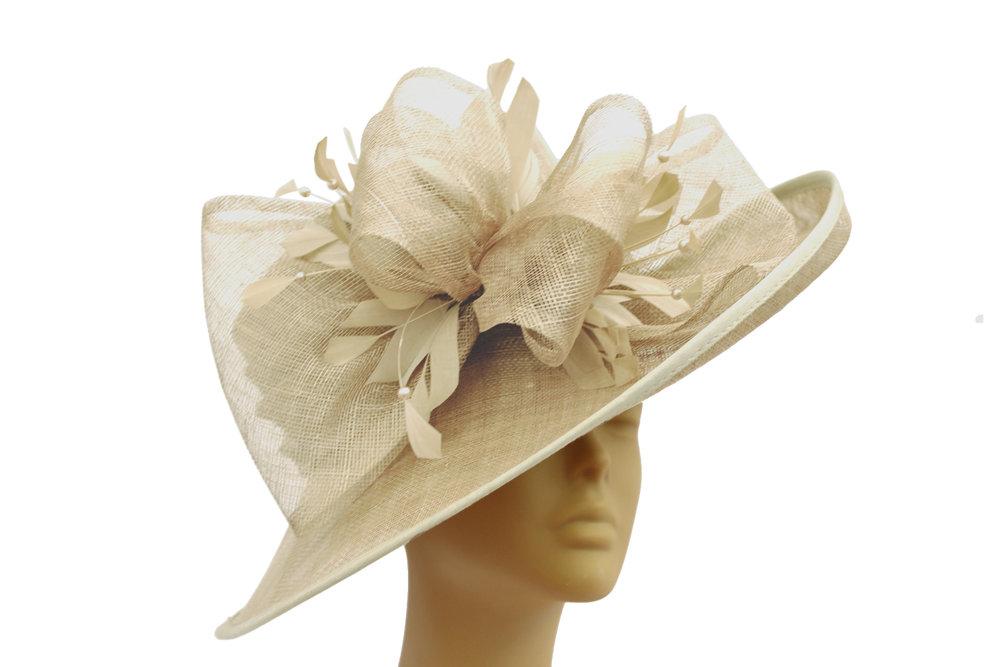 wide brimmed champagne hat.jpg