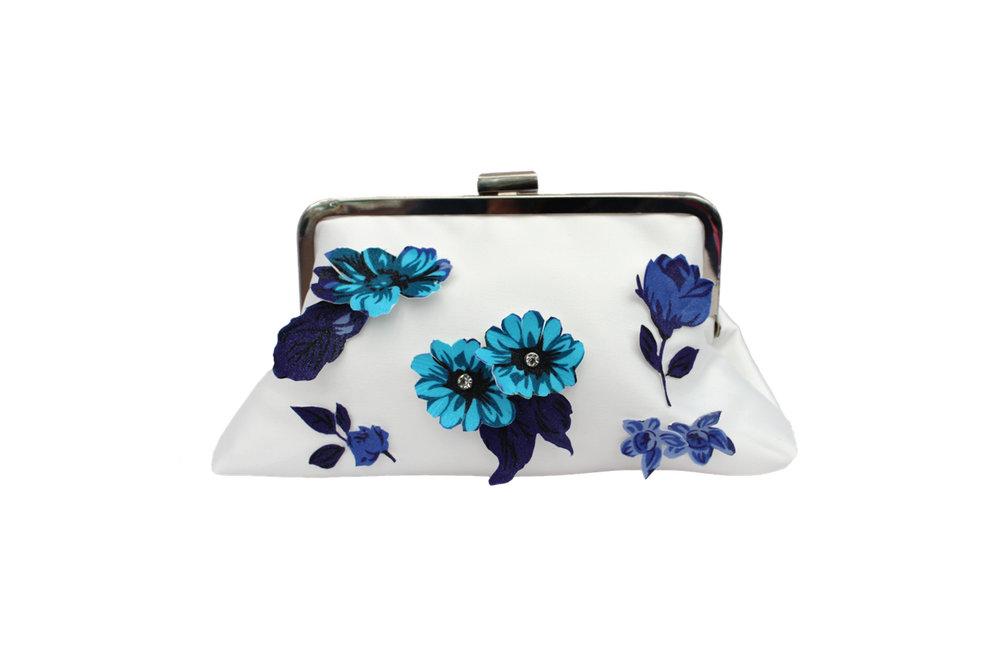 ivory and blue flower soft clutch.jpg