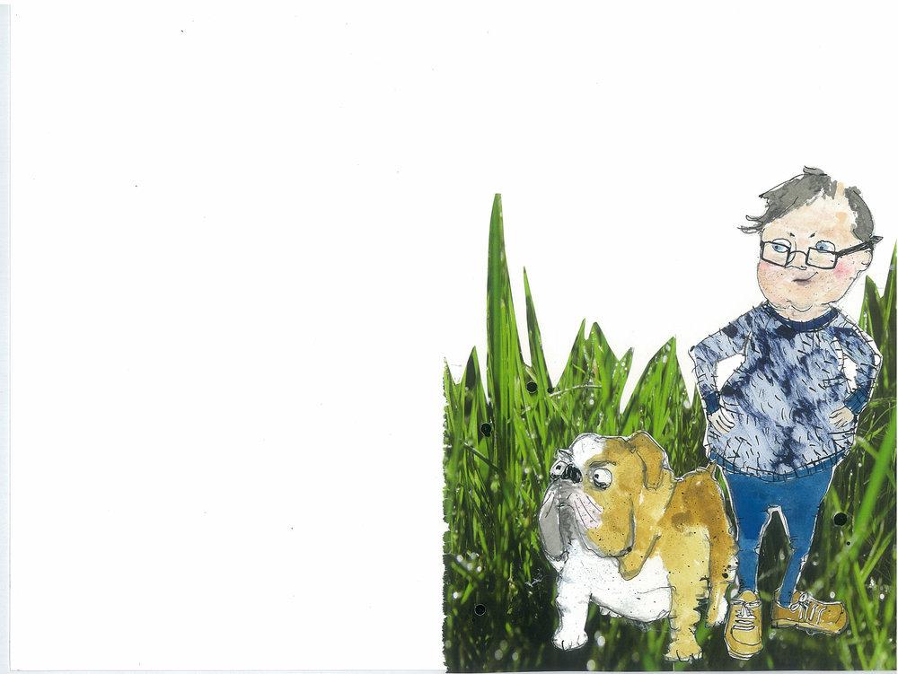 "illustration fra ""Ofelia i den nye klasse"", Turbine forlaget"