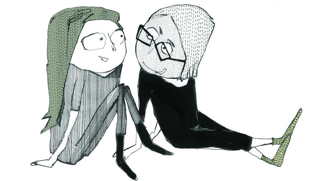 figurunivers fra udsmykning af Silkeborg børnebibliotek