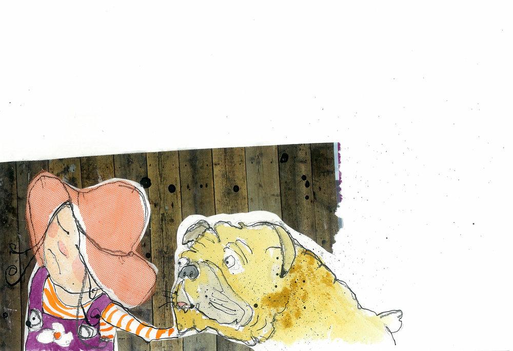 """illustration til """"Ofelia i den nye klasse"""""""