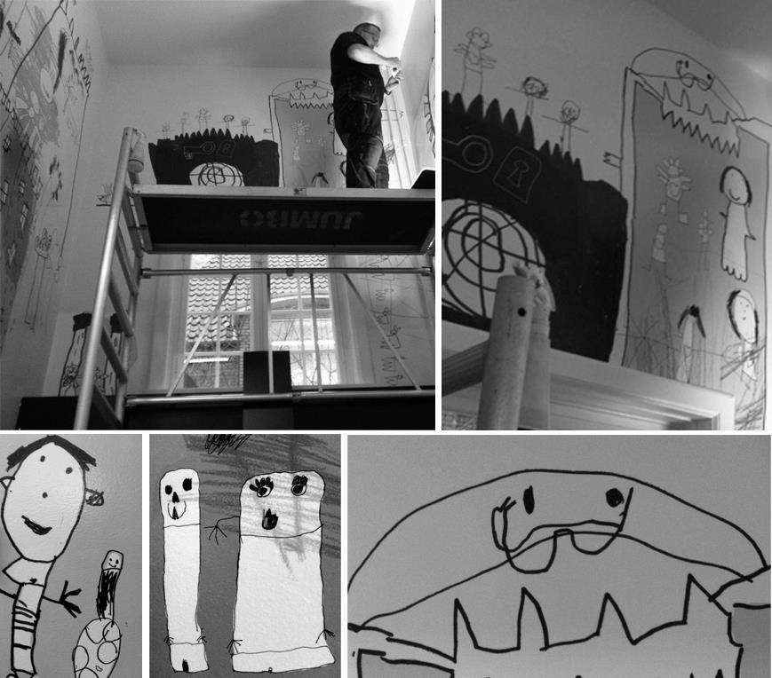 Silkeborg børnebibliotek - vægudsmykning